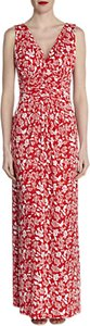 Read more about Gina bacconi floral print jersey maxi dress coral