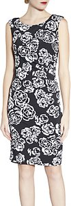 Read more about Gina bacconi floral print sleeveless jersey dress pink