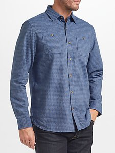 Read more about John lewis james fine check shirt navy