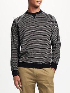 Read more about Kin by john lewis velour stripe sweatshirt black grey