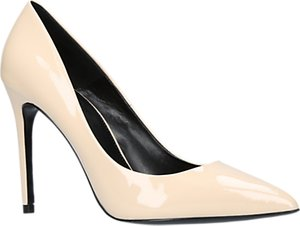 Read more about Carvela apricot stiletto heeled court shoes cream