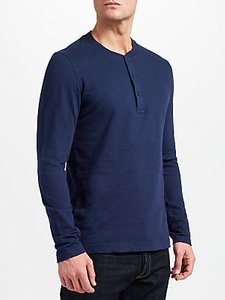 Read more about John lewis co long sleeve henley t-shirt