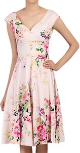 Read more about Jolie moi floral sweetheart neck swing dress pink