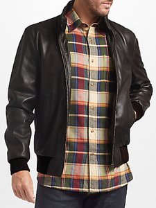 Read more about John lewis leather harrington jacket brown