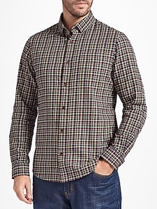 Read more about John lewis chapman gingham soft flannel check shirt navy multi