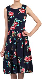 Read more about Jolie moi floral pleated swing dress navy floral