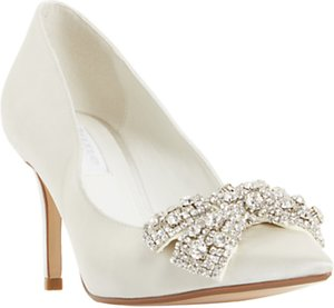 Read more about Dune bridal collection beaubelle stiletto heeled court shoes ivory