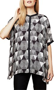 Read more about East pyramid print oversized blouse black