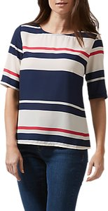Read more about Sugarhill boutique honour love stripe top cream navy