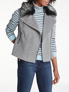Read more about Helene for denim wardrobe biker faux fur gilet grey charcoal