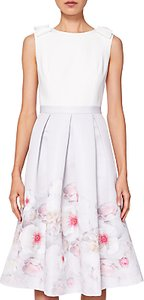 Read more about Ted baker gilith pleated midi dress light grey