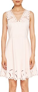 Read more about Ted baker emalise embroidered skater dress nude pink