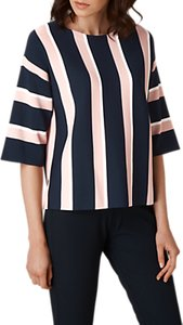 Read more about L k bennett floretta stripe jumper blue cream