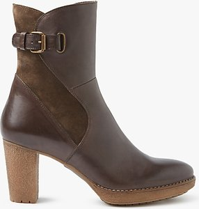 Read more about John lewis pinky block heeled ankle boots brown leather