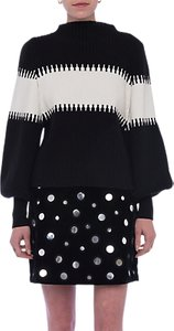 Read more about French connection sofia blouson sleeve high neck jumper black winter white