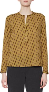 Read more about French connection elise crepe collarless blouse willow multi