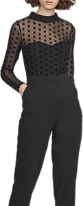Read more about French connection lea mesh high neck jumpsuit black