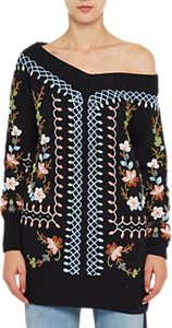Read more about French connection bijou embroidery jumper black multi