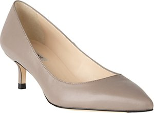 Read more about L k bennett audrey pointed toe court shoes grey leather