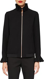 Read more about Ted baker lydiah ruffle detail bomber jacket