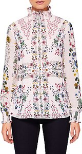 Read more about Ted baker meranda unity floral high neck blouse pink