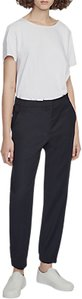 Read more about French connection georgie gathered waist suiting trousers solid black