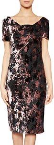 Read more about Gina bacconi sabrina floral velvet dress black plum frost