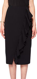 Read more about Ted baker oden ruffle detail pencil skirt black