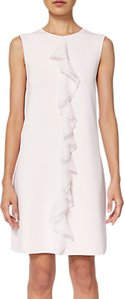 Read more about Ted baker livasa frill front knitted dress nude pink