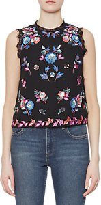 Read more about French connection edith floral sleeveless top black multi
