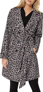 Read more about Damsel in a dress roaming leopard trench coat multi