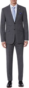 Read more about Ted baker vienaj check tailored suit jacket grey