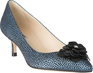 Read more about L k bennett portia flower pointed toe court shoes powder blue