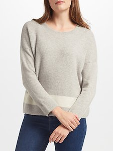 Read more about Collection weekend by john lewis cashmere texture block jumper light grey
