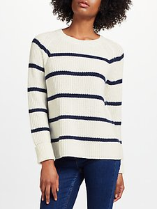 Read more about Collection weekend by john lewis breton stripe jumper ivory navy