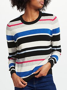 Read more about Collection weekend by john lewis cashmere striped crew neck jumper multi