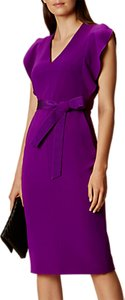 Read more about Karen millen belted pencil dress purple