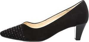 Read more about Gabor bathurst block heeled court shoes black