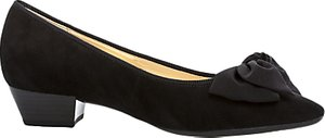 Read more about Gabor tarbert pointed toe court shoes black suede