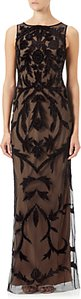 Read more about Adrianna papell beaded long dress black nude