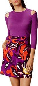 Read more about Karen millen ring detail jumper purple
