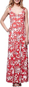 Read more about Yumi floral tulip maxi dress red white