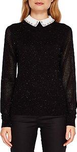 Read more about Ted baker helin embellished collar sparkle jumper black