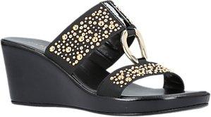 Read more about Carvela comfort salt wedge heel sandals black
