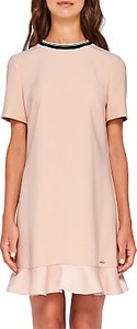 Read more about Ted baker colour by numbers kittaa peplum dress nude pink