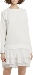 Read more about French connection tommy textured sweater dress winter white