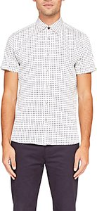 Read more about Ted baker texgoe cotton short sleeve oxford shirt white