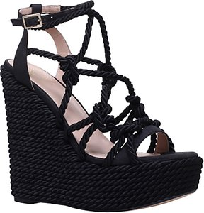 Read more about Kg by kurt geiger notty strap wedge sandals black