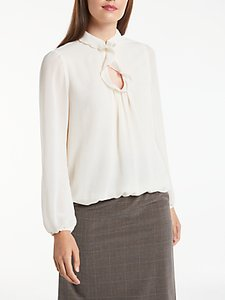 Read more about Max studio long sleeve frill detail blouse cream
