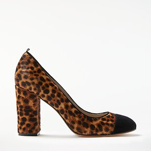 Read more about Boden lisbeth block heeled court shoes leopard